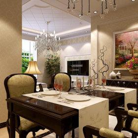欧式奢华餐厅设计图