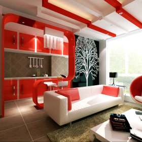 现代简约时尚客厅设计图