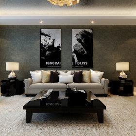 现代简约现代简约简约风格现代简约风格客厅背景墙沙发客厅沙发装修图