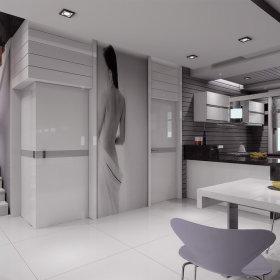 现代现代风格厨房三居装修案例