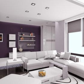 现代现代风格客厅三居装修图