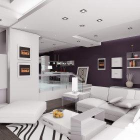 现代现代风格客厅三居设计案例展示