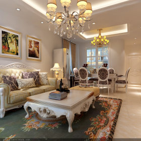 欧式简约客厅图片