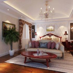 美式美式风格卧室吊顶效果图
