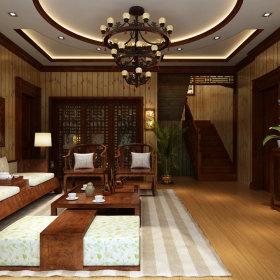 中式中式风格客厅设计案例