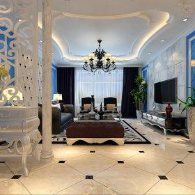 欧式简约客厅设计案例