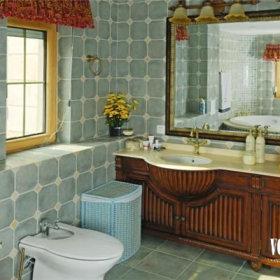 美式乡村风格卫生间设计图