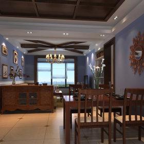 美式美式风格餐厅吊顶效果图