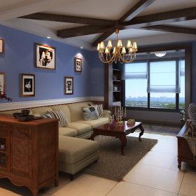 美式美式风格客厅吊顶效果图