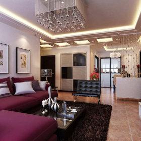 现代现代风格客厅装修案例