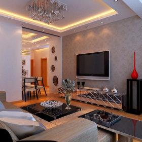 现代现代风格客厅设计案例展示