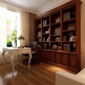 欧式书房窗帘装修效果展示