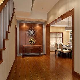 中式中式风格玄关别墅玄关柜设计方案