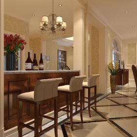 新古典古典新古典风格古典风格吧台过道装修效果展示