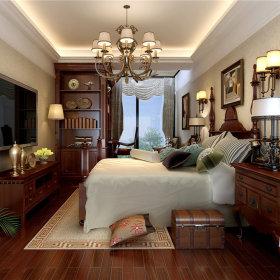 美式美式风格卧室跃层吊顶电视背景墙图片