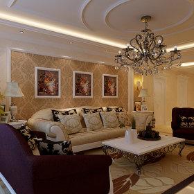 欧式欧式风格客厅背景墙沙发客厅沙发设计案例