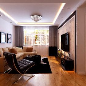 现代客厅吊顶窗帘装修案例