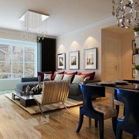 现代现代风格客厅设计方案