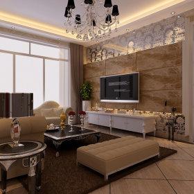 欧式客厅吊顶电视柜电视背景墙图片