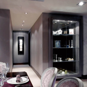 新古典餐厅吊顶酒柜装修案例