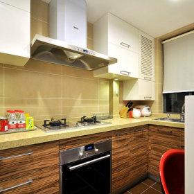 清新现代简约厨房装修图