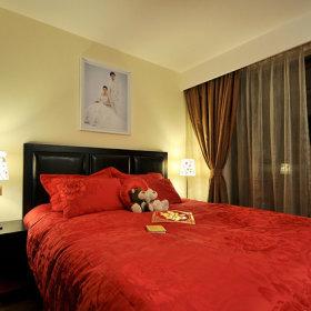 地中海现代简约卧室效果图