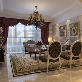 欧式客厅吊顶窗帘设计案例展示