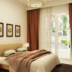 现代卧室吊顶窗帘案例展示