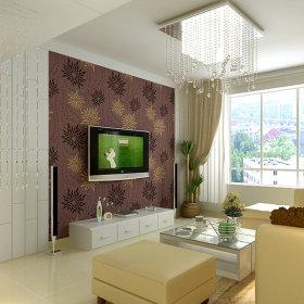 现代客厅吊顶电视背景墙装修案例