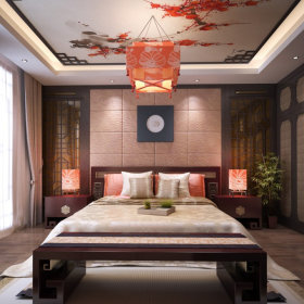 中式卧室吊顶图片