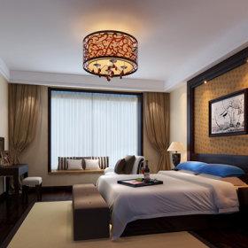 中式卧室装修图