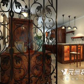 美式乡村风格玄关玄关柜设计案例展示