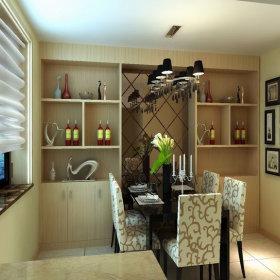 现代简约餐厅酒柜设计方案