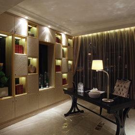 现代书房窗帘装修案例
