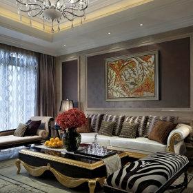 新古典古典新古典风格古典风格背景墙沙发效果图