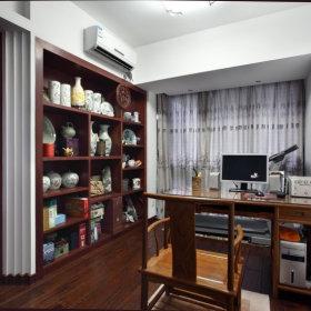 中式中式风格书房交换空间装修案例