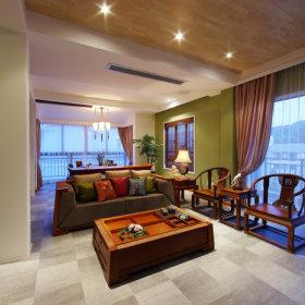 中式新中式客厅装修效果展示