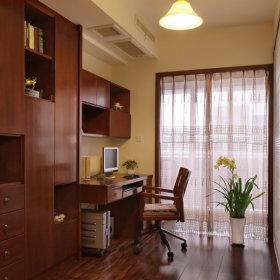 中式中式风格书房窗帘设计图