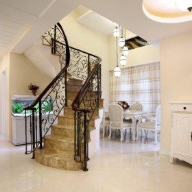 欧式复式楼楼梯装修案例