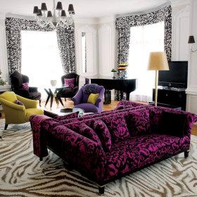 现代客厅窗帘设计案例展示