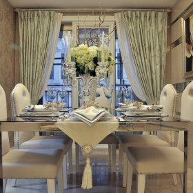 现代餐厅窗帘设计案例展示