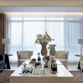 现代客厅窗帘设计方案