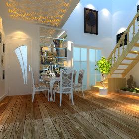 欧式餐厅吊顶楼梯装修案例