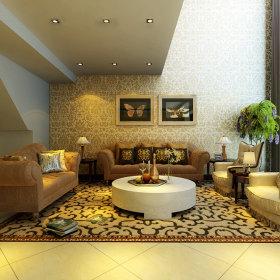 欧式欧式风格客厅跃层装修案例