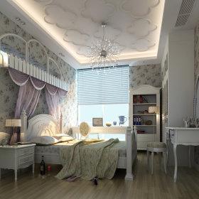 现代卧室复式楼吊顶设计方案