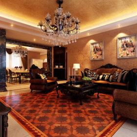 欧式古典客厅沙发设计案例