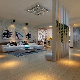 简约时尚客厅二居装修图