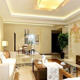 现代现代风格客厅三居装修案例