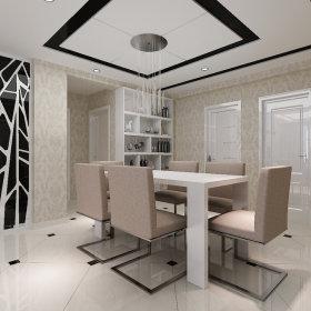 现代餐厅酒柜设计案例