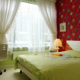 中式清新新中式儿童房窗帘效果图